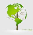 Tree shaped world map vector image vector image