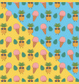 tropical and summer items pattern vector image vector image