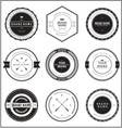 vintage brand badge templates vector image vector image