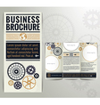 Vintage Brochure Design Template vector image