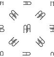 walker pattern seamless black vector image vector image