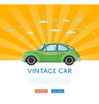 website design with classic retro car vector image vector image