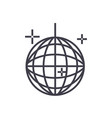 disco ballparty line icon sign vector image