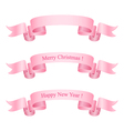 Pink Ribbons Isolated on White Background vector image