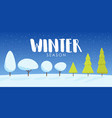 a snowy winter landscape with christmas trees vector image
