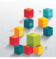 Abstract background with color cubes and white vector image vector image