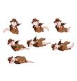 Adventurer Rat Dying Sprite vector image vector image