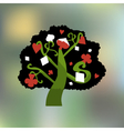Alice Tree from Wonderland Garden or Forest vector image vector image