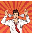 Angry Businessman Shouting Pop Art vector image