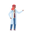 arab man pointing hand medical doctor vector image vector image