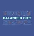 balanced diet blue word concepts banner