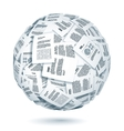 Ball of documents vector image