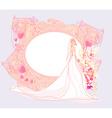 Beautiful bride card vector image