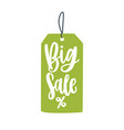 big sale price tag flat mega vector image