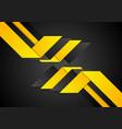 black orange abstract geometric corporate vector image vector image