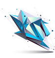 Blue abstract 3D structure polygonal object cosmic vector image vector image