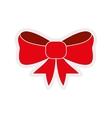 bowtie icon Red ribbon design graphic vector image