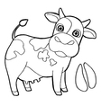 Cattle with paw print Coloring Page