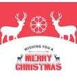 christmas greetings card with christmas dear vector image vector image