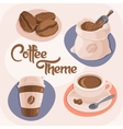 Coffee Theme Icons Set vector image