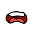 comic cartoon mouth vector image vector image