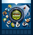 courses photography poster template vector image