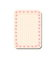 cute pink card with place for notes trendy vector image vector image