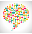 Diversity people speech bubble vector image vector image