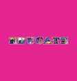 educate concept word art vector image