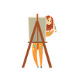 female artist painting on canvas talented painter vector image vector image