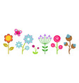 flat flowers border colorful abstract floral vector image vector image