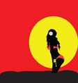 girl sexy in the nature sunset color vector image vector image