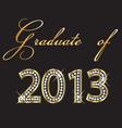 graduates 2013 design vector image