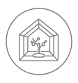 Greenhouse line icon vector image vector image