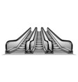 group of escalator in metro mockup realistic vector image vector image