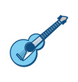 guitar music instrument vector image vector image