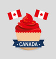 happy canada day celebration poster vector image vector image