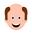 isolated happy man avatar vector image vector image