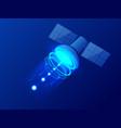 isometric gps satellite wireless satellite vector image