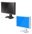lcd tv monitor on white background vector image