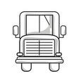 line school bus to children transportation vector image