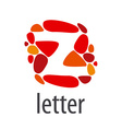 logo abstract letter Z of colored stones vector image vector image