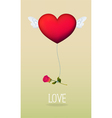 Love balloon vector image vector image