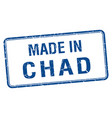 made in chad blue square isolated stamp vector image vector image