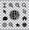 magnification icon set vector image