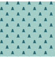 Naive Christmas seamless pattern with trees ans vector image vector image