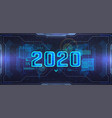 new 2020 year futuristic technology banner vector image vector image