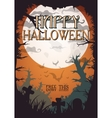 night halloween a4 format poster with creepy vector image