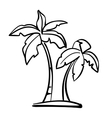 palm icon sketch cartoon vector image
