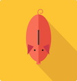 Piggy bank simple flat vector image vector image